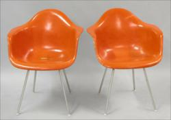 Charles and Ray Eames DAXs, Pair. Herman Miller. USA, 1950/c. 1960. Photo: SUSANIN'S Auctions.